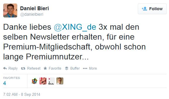 #XING fail - Daniel Bieri