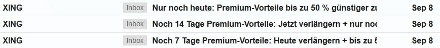 Xing Premium Emails