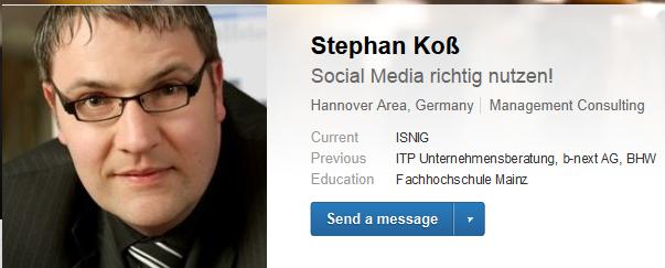 Stephan Koss - LinkedInsider